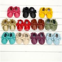 Cuero genuino zapatos de bebé, mocasín de zapatos de bebé