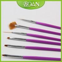 BQAN 6 pcs Nail Art Brush Set Brush Painting Dot Acrylic UV Gel Nail Paint Designs