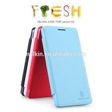 mobile phone Case for Lenovo k3 Nillkin 2015 new product fresh Flip Leather back cover Case for Lenovo k3