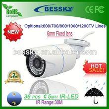 2015 New Product 1200TVL 6mm Lens 30M IR Range CCTV Camera ir led illuminator in cctv accessories(IMX138+FH8520)