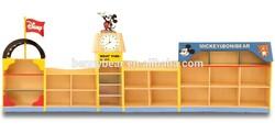 Kindergarten Furniture Wooden Mickey Design Storage Cabinet