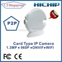 Hichip P2P Wifi IP Camera Sim Card with ONVIF 960P, low illumination