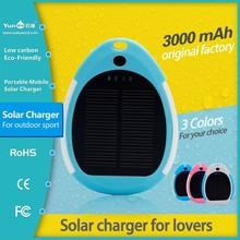 Top design solar powered cell phone charger solar powerbank waterproof 2600mah