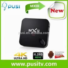 Pusi Tv Arabic Mxiii Tv Box Amlogic S802 Quad Core Tv Box A9 3D Hd 1080P 2Gb Ddr3 8Gb Nand Flash Set Top Box