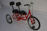 adult tricycles two seat , 3 wheel adult pedal car