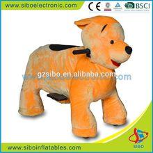 GM5920 2015 amusement animal rider plush dog toys