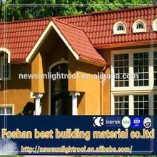 coating material metal roof tile sheet / better than asphalt shingle / 0.40mm stone coated metal roof tiles