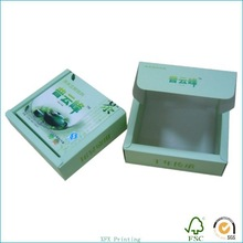 blue paper tea box with one side printing for wholesales