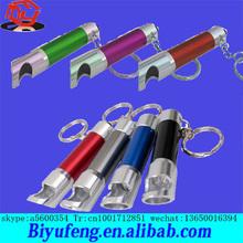 Wholesale flashlight red led flashing pp keychain European market free shipping