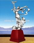 Outdoor Stainless Steel Sculpture Landscape Abstract Art Statue - Goddess of Ocean