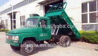 mini truck 4x4 diesel engine double cylinders self dump truck