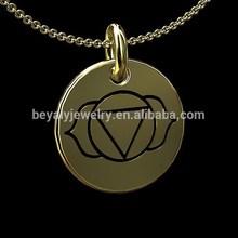 wholesale 14K Gold Third Eye Ajna Chakra Disc Pendant