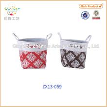 New Beautiful Cotton&Paper Straw Laundry Basket
