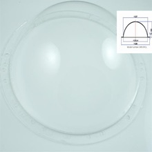 9 inch optical acrylic large plastic hemisphere dome