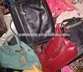 Moda marca usados sacos de senhora/segunda mão sacos de couro para venda