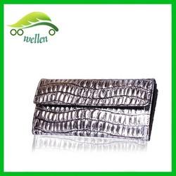 New design silver wallet women wallets crocodile wallet