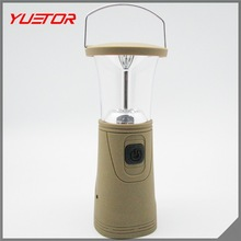 Hand Crank Solar 6 LED Lantern Outdoor Super Bright Rechargeable Camping Light