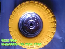 small rubber tire / flat free tire for vehicles 4.10/3.50-4