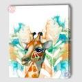 Novo design menina bonita cervos famosa pinturas de animais