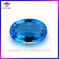Jewelry Making CZ Cubic Zirconia Gemstone Oval Blue Topaz rough price