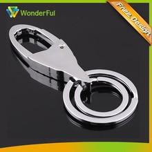 Hot Sale Popular Circle /Annular Shape Metal Keychain Key Chain
