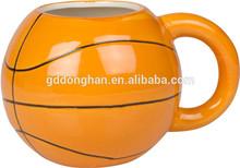 Alibaba elegant wholesale Ceramic Basketball Shaped Ceramic Mug with oem design