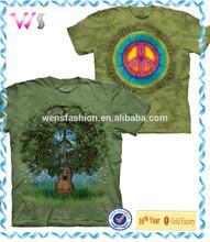 Tie dyed very nice printing 95 cotton /5 elastane t-shirt