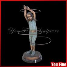 Life Size Bronze Children Playing Sculpture