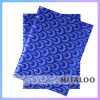 Superior Quality Factory Price Nigeria Headtie /Odm African Gele Head Tie Royal Blue