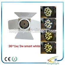36*1w stage lights guangzhou ,cold&warm white barn door led par light
