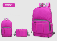 Candy colour foldable waterproof backpack