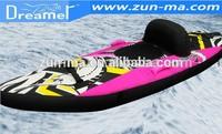 Made in china pvc inflatable single seat kayak