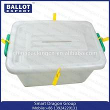 Plastic Storage Box/container With Wheels/eleciton ballot box
