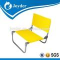 2015 muebles al aire libre bajo el asiento de marco de acero silla de playa plegable
