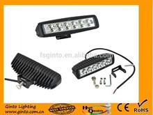 Truck Tractor flood/spot Aluminum Alloy black/white housing 18w LED work light lamp 6''