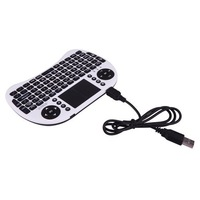2.4GHz Portable Handheld Multimedia Wireless Keyboard withTouchpad Mouse for PS3, XBOX, PC, TV
