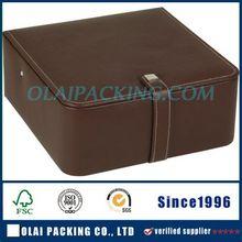 2015 new designs brown leather watch storage box