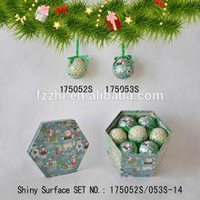 Creative New Product 7 PCS Polyfoam Christmas Tree Decoration Hanging Ball