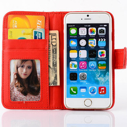 Two Mobile Phones Leather Case