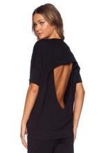 black pierced ladies sweatshirt with latest fashionable pattern