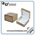 de lujo cajas de regalo cajas de regalo de la joyería libreinsignia de laimpresión para el anillo de cajas