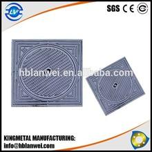 Black Bituminous Painted Square Manhole Cover Ductile Iron Manhole Cover