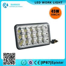 45w 5inch Square Epistar LED HIGH POWER Fog Light Auto Sealed Beam headlight