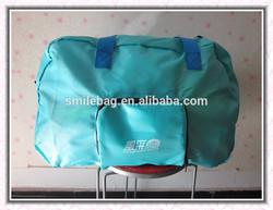 190T PU grid travel bags foldable travel bags hiking travel bag