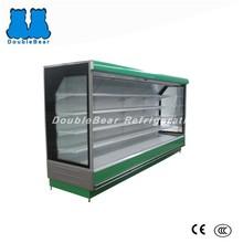 Split commercial supermarket vertical showcase refrigerator for drink/bakery/milk