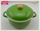 cookware grill pans international dutch ovens home cookware cookware sets Cast-iron Saucepan Large - Enamel 16cm saucepan green