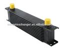 Black 10 linha an-10an universal motor transmissão resfriador de óleo com dois encaixes