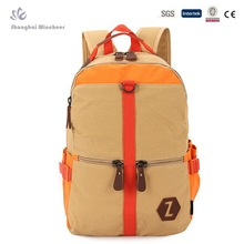 Khaki Canvas School Bag Laptop Canvas Backpack day pack