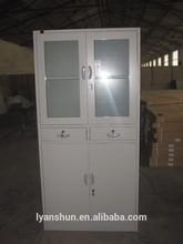 Metal wardrobe swing door cupboard design