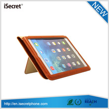 iSecret Smooth surface protective leather cover for ipad 6 pu leather printing case